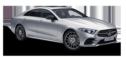 CLS coupé - sølv