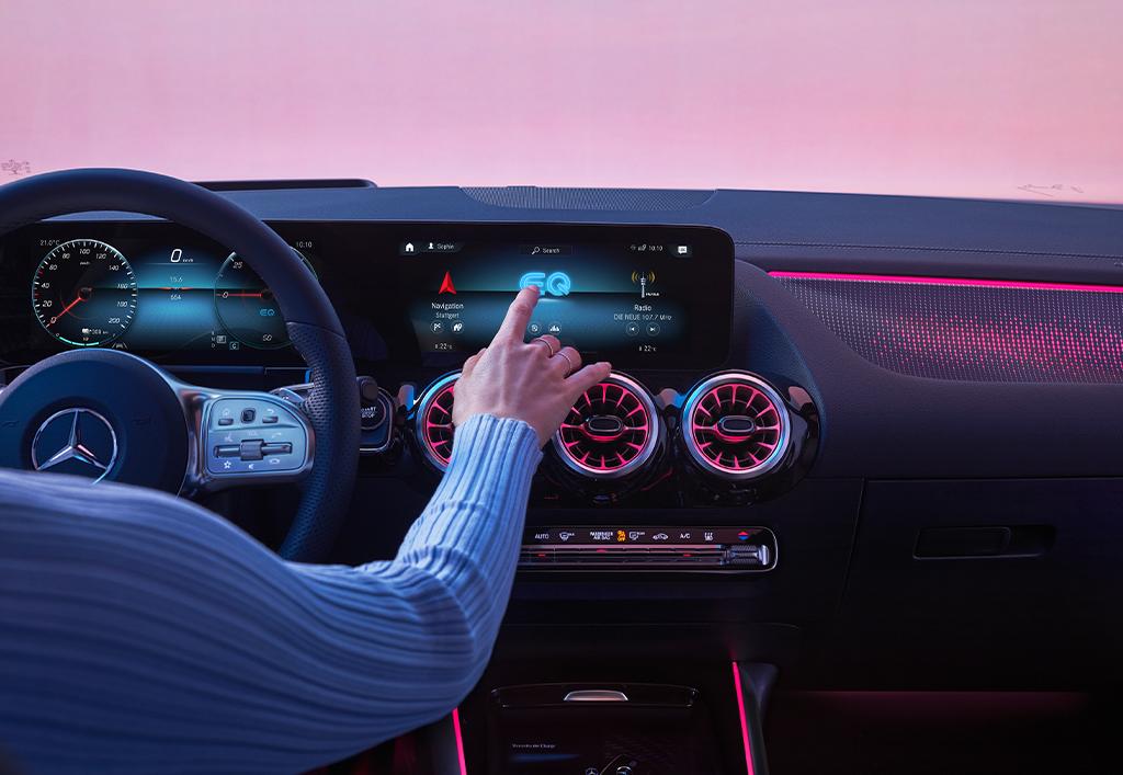 Ny Mercedes-Benz EQA interiør