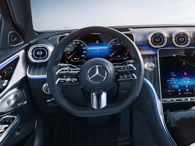 Ny Mercedes C-klasse interiør